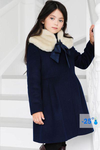 Купить Пальто, Mamma Mila, Синий, Шерсть-95%, Альпака-5%, Женский
