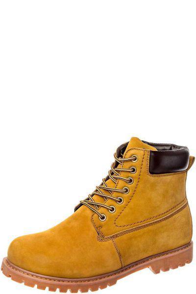 Купить Ботинки, Crosby, Оранжевый, Нубук-100%, Мужской
