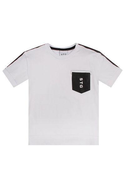 футболка street gang для мальчика, белая