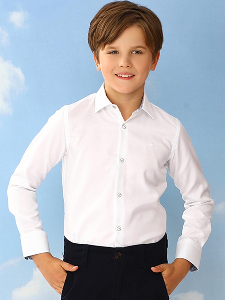 рубашка noble people для мальчика, белая