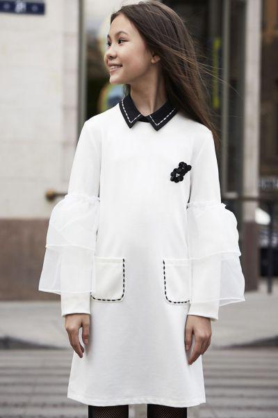 Купить Платье, To Be Too, Белый, Вискоза-65%, Нейлон-30%, Эластан-5%, Женский