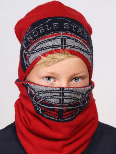 шапка noble people для мальчика, красная