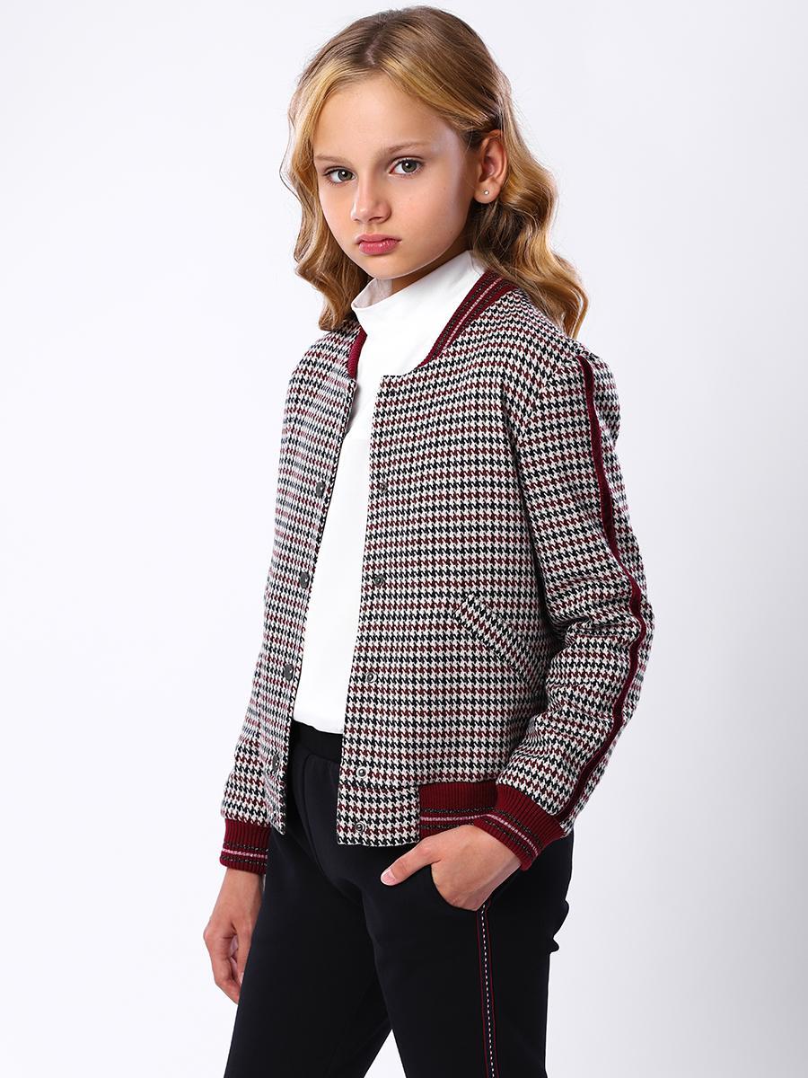 куртка бомбер noble people для девочки, разноцветная