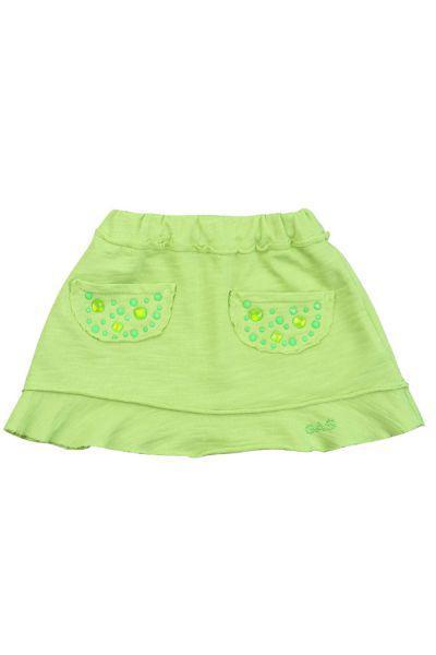 юбка gas для девочки, зеленая