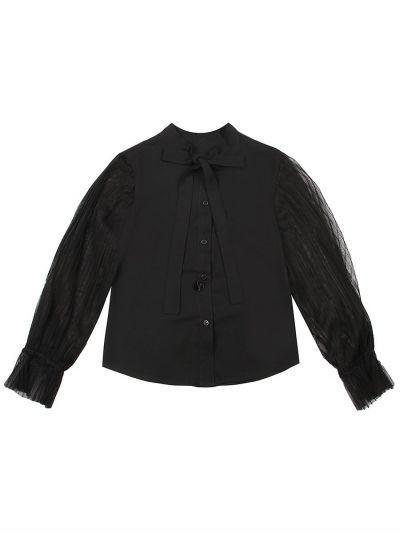 Купить Блуза, Manila Grace, Черный, Полиэстер-100%, Женский