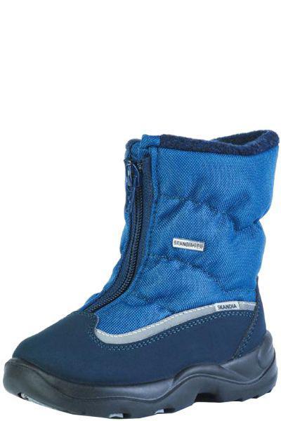 ботинки skandia для мальчика, голубые