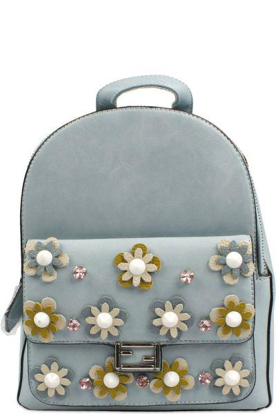Рюкзак SR голубого цвета
