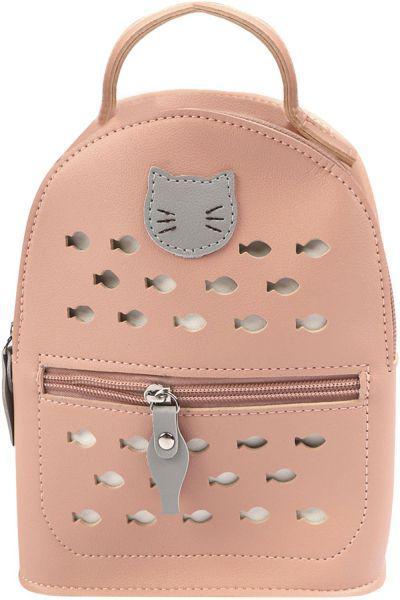 Рюкзак, Multibrand, Розовый, UNI, Искусственная кожа-100%, Женский  - купить со скидкой