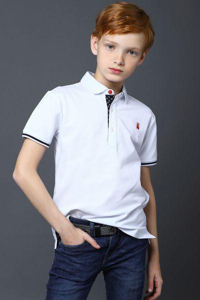 Купить Рубашка-Поло, Noble People, Белый, Хлопок-95%, Эластан-5%, Мужской