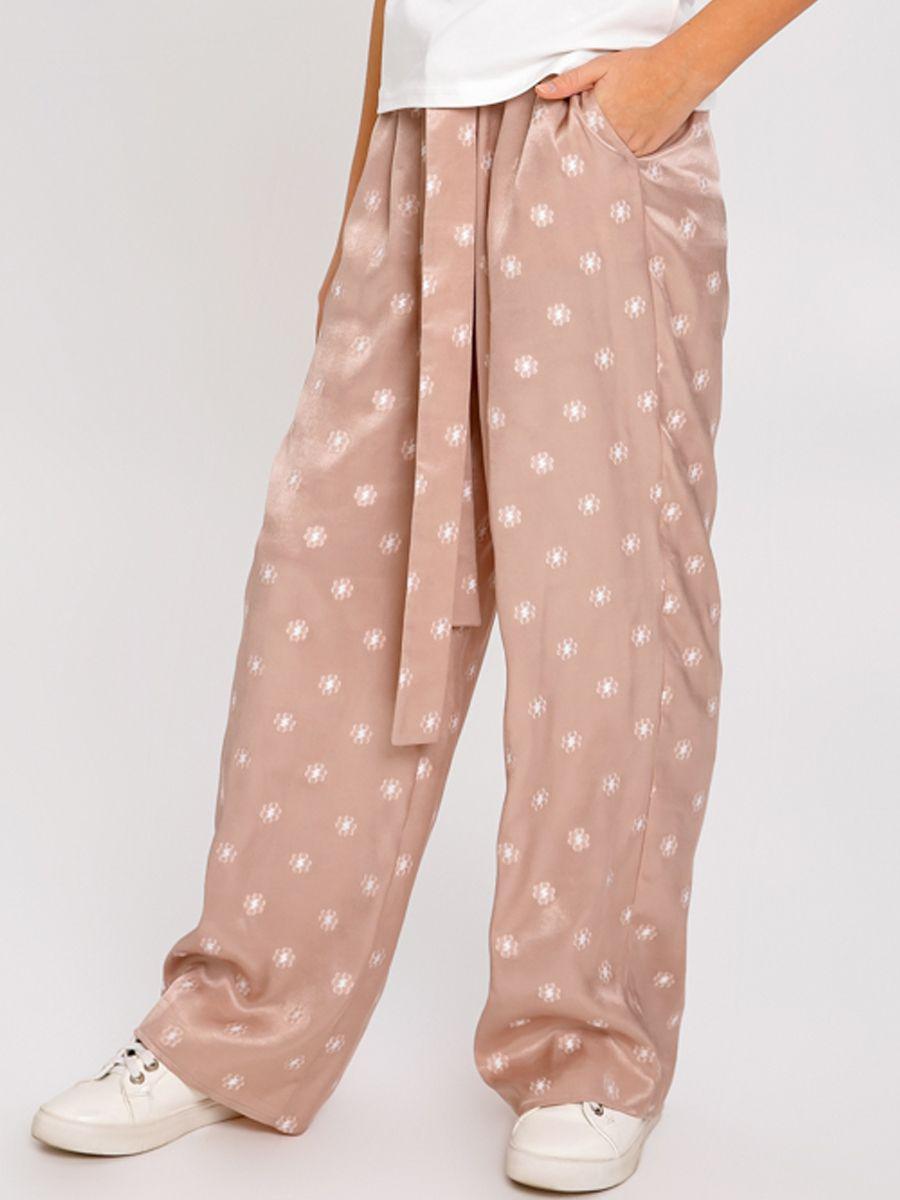 брюки noble people для девочки, бежевые