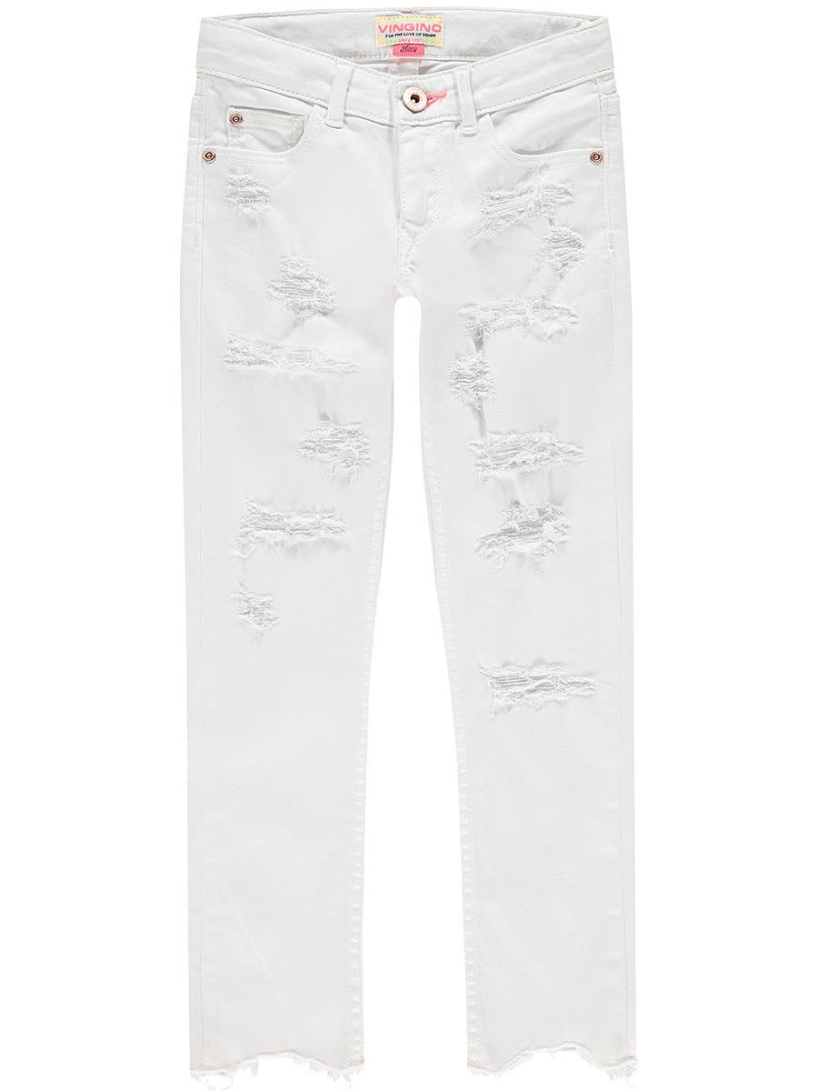 джинсы vingino для девочки, белые