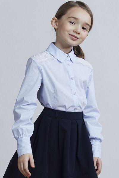 блузка silver spoon для девочки, голубая