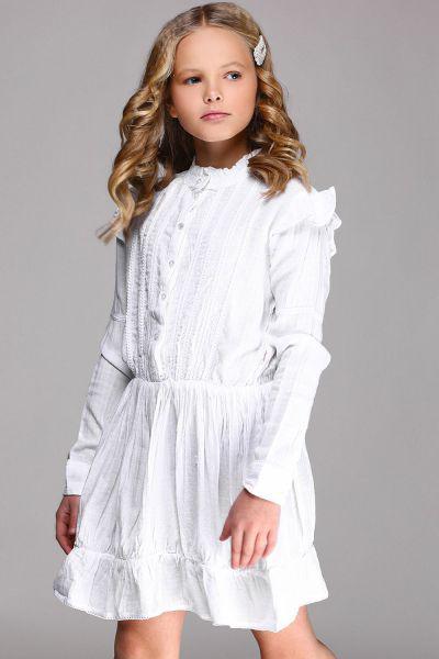 Купить Платье, Vingino, Белый, Вискоза-65%, Хлопок-35%, Женский