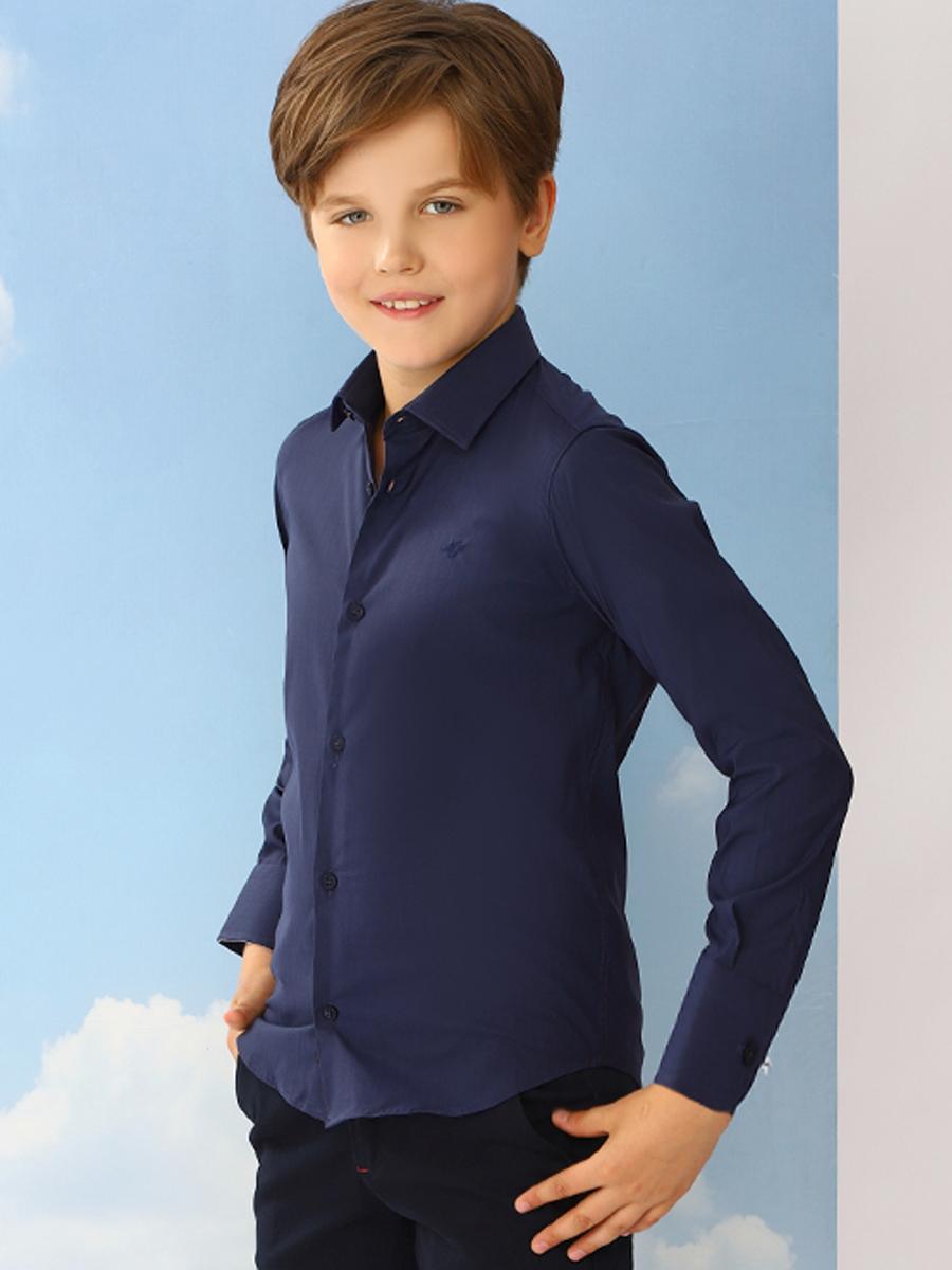 рубашка noble people для мальчика, синяя