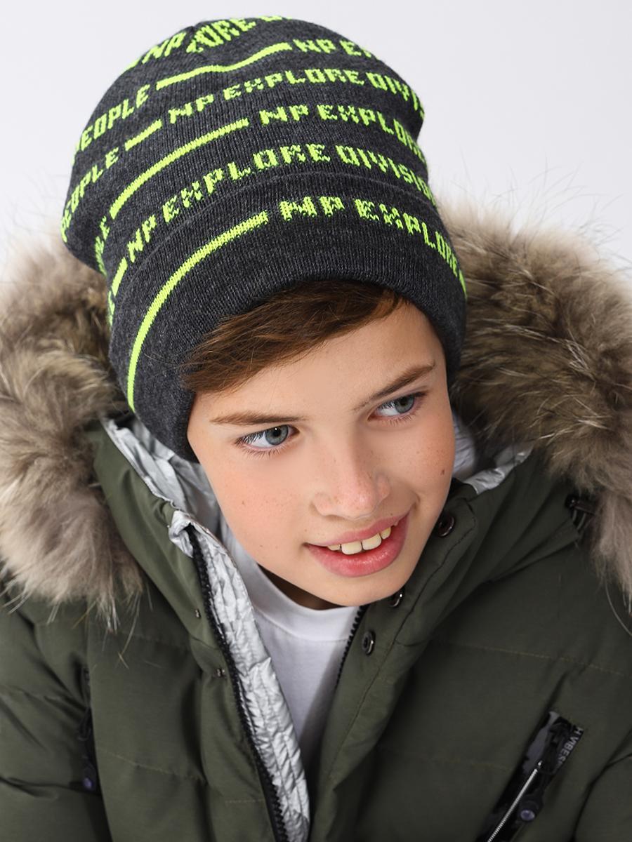 шапка noble people для мальчика, серая
