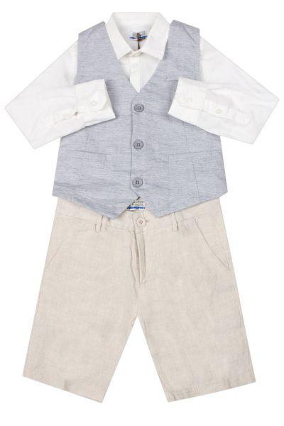 Купить Сорочка+жилет+брюки, Y-clu', Разноцветный, Хлопок-98%, Эластан-2%, Мужской