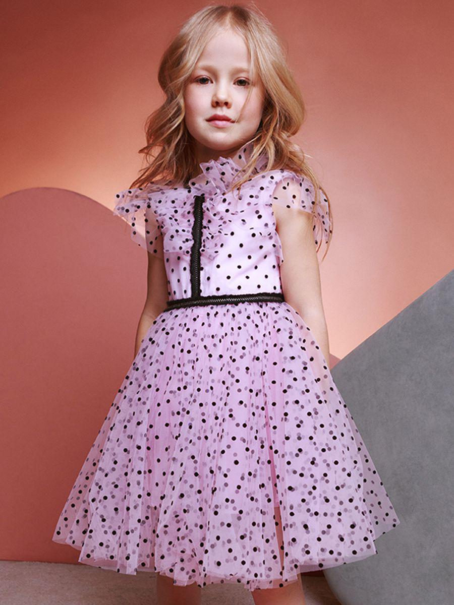 платье noble people для девочки, розовое