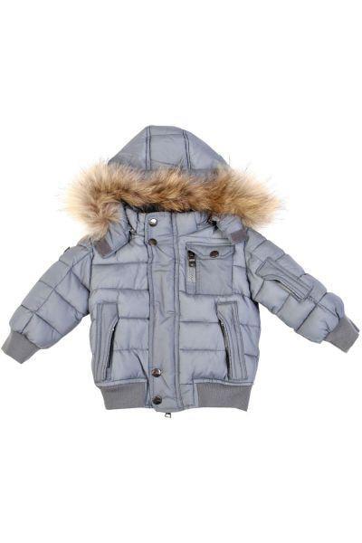куртка gas для мальчика, серая