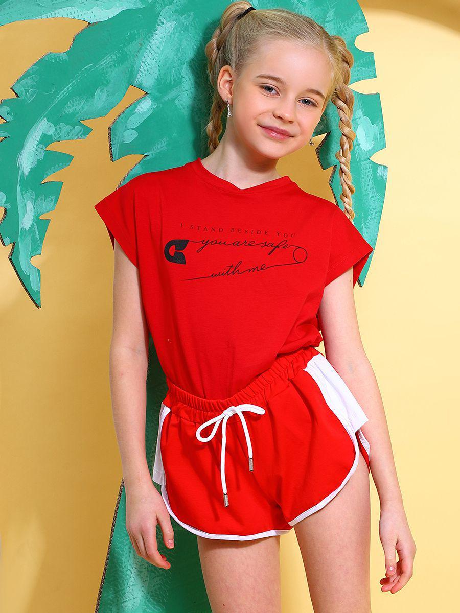 шорты y-clu' для девочки, красные