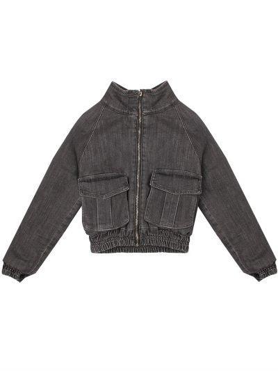 куртка y-clu' для девочки, серая