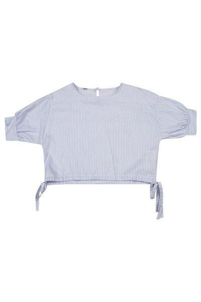 Купить Блуза, Manila Grace, Голубой, Хлопок-100%, Женский