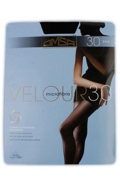 Колготки Velour 30 для девочки 245 чёрный Omsa, Сербия