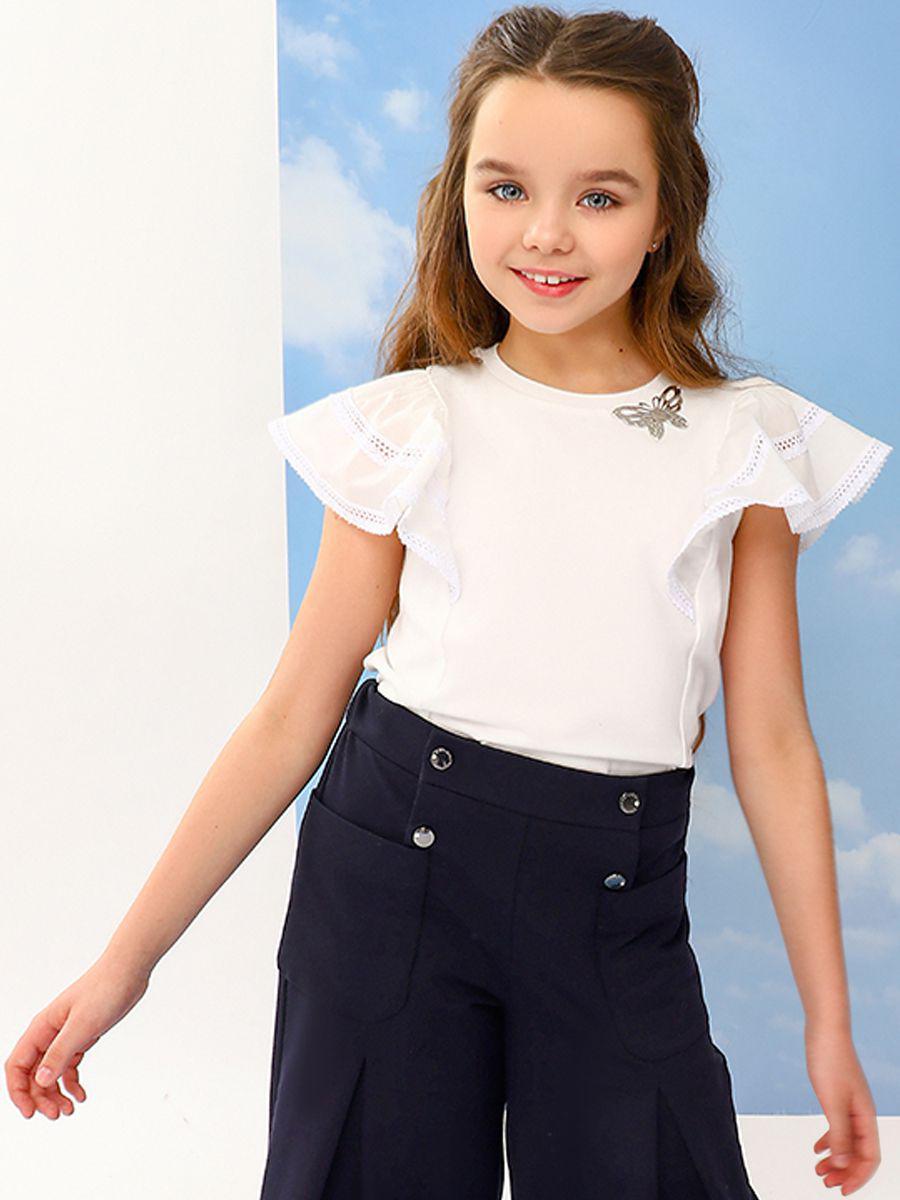 блузка noble people для девочки, белая