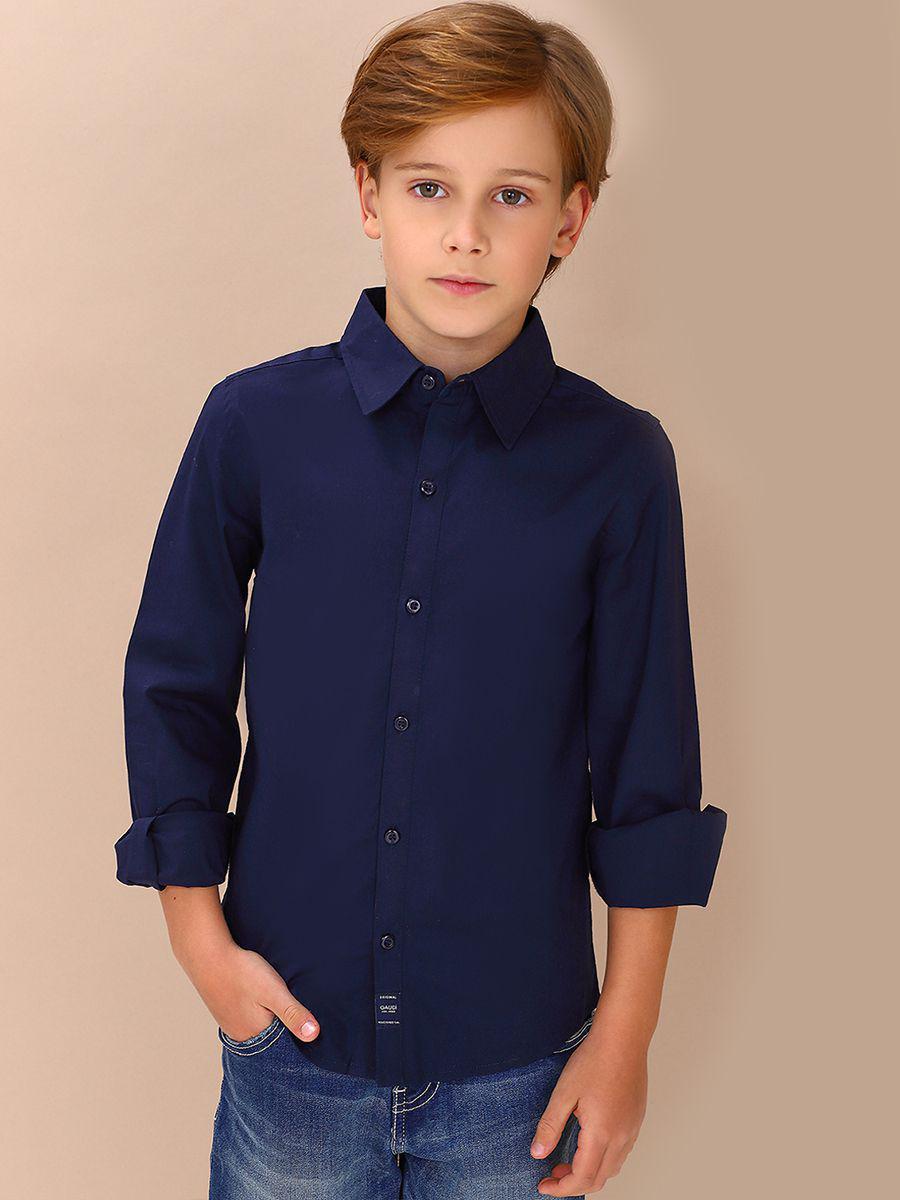 рубашка gaudi для мальчика, синяя
