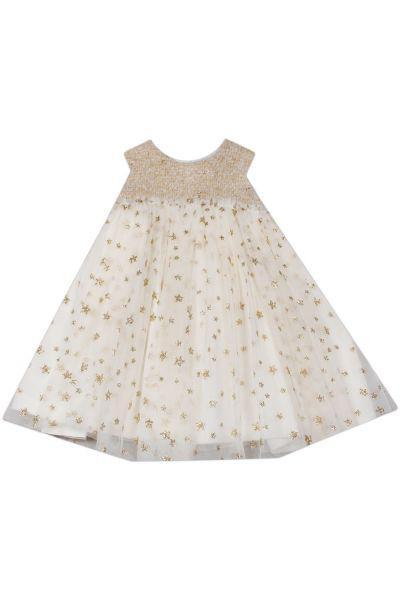 Купить Платье, Gaialuna, Белый, Полиэстер-65%, Хлопок-35%, Женский