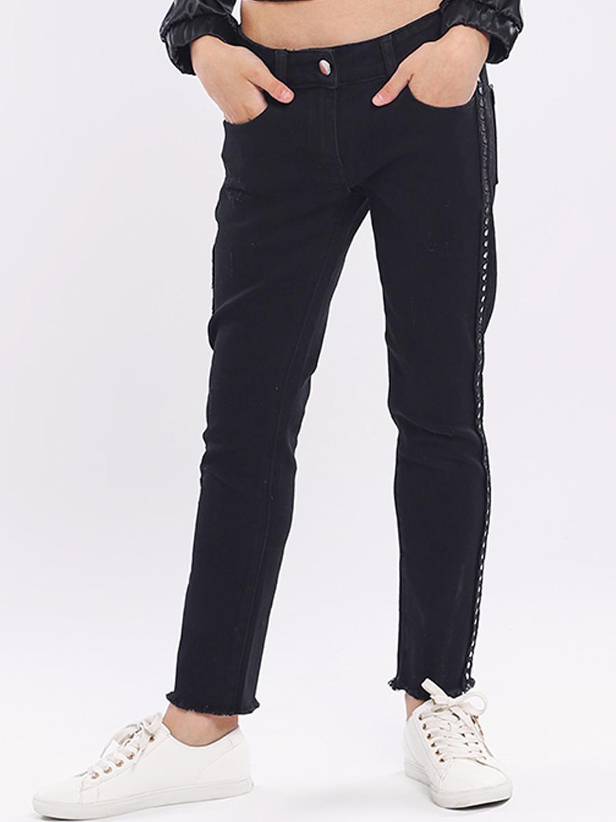 джинсы y-clu' для девочки, черные