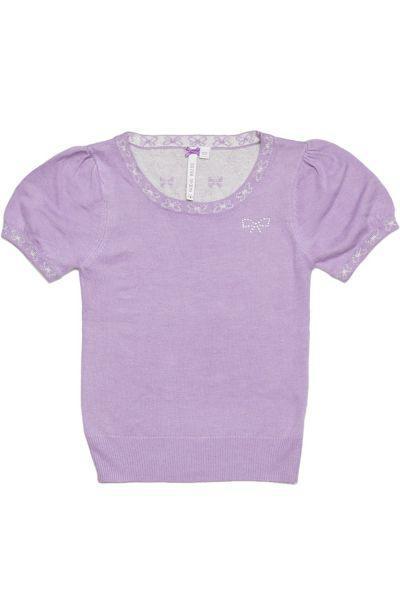 джемпер silver spoon для девочки, фиолетовый
