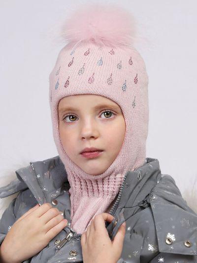 Купить Шлем, Noble People, Розовый, Шерсть-40%, Вискоза-30%, Полиамид-20%, Кашемир-10%, Женский