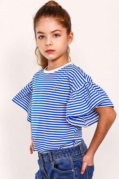 футболка gaialuna для девочки, бежевая