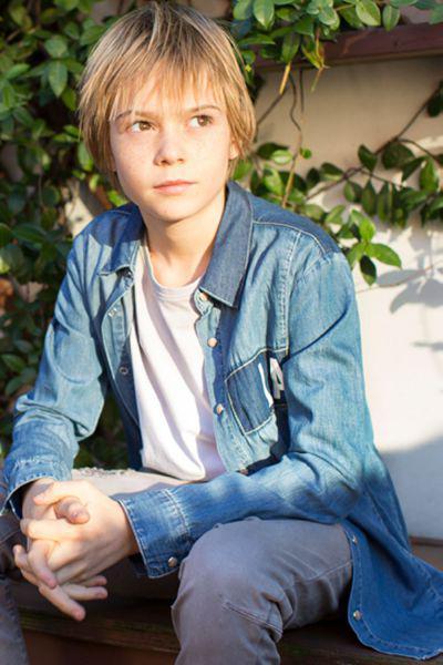 рубашка ronnie kay для мальчика, голубая