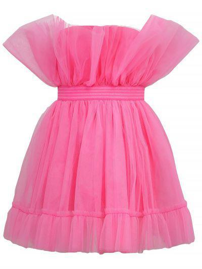 Купить Платье, Gaialuna, Розовый, Вискоза-90%, Эластан-10%, Женский