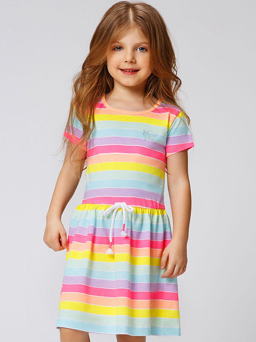 Купить Платье, Laddobbo, Разноцветный, Хлопок-95%, Эластан-5%, Женский