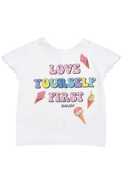 футболка gaudi для девочки, белая