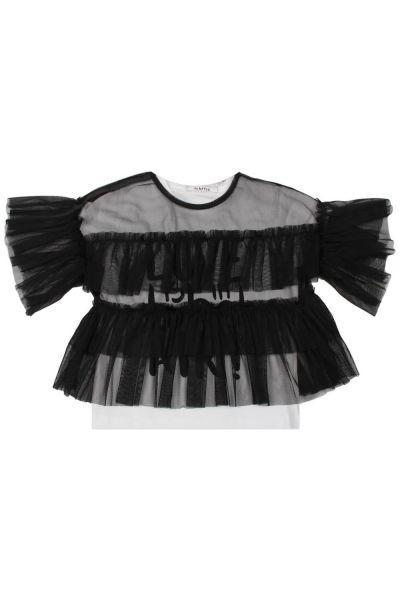 Купить Топ+футболка, To Be Too, Черный, Хлопок-94%, Эластан-6%, Женский