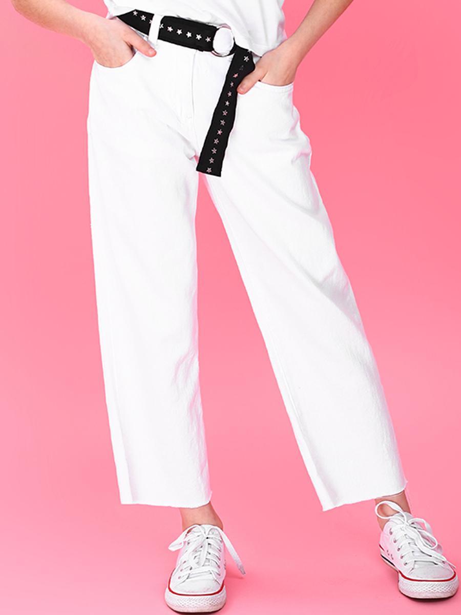 джинсы gaialuna для девочки, белые