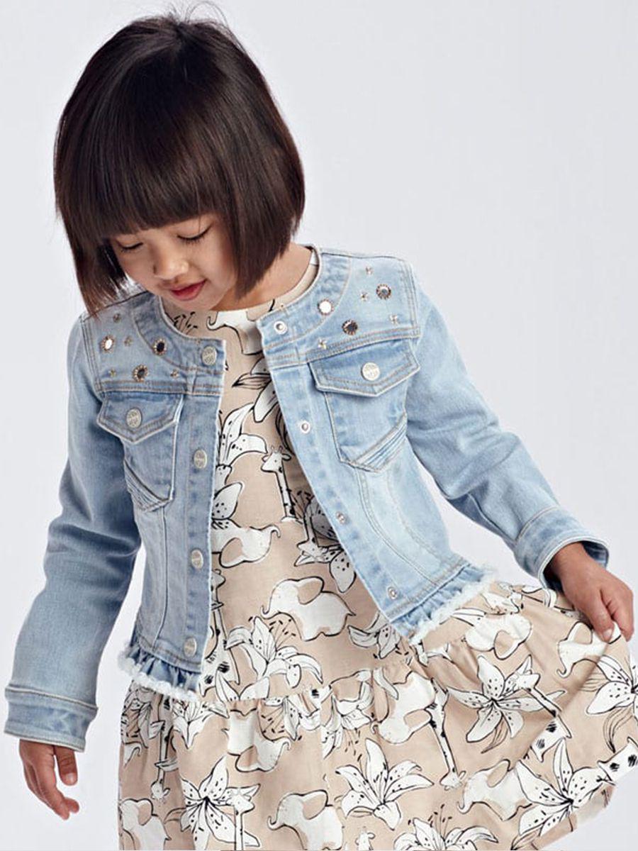 куртка mayoral для девочки, голубая