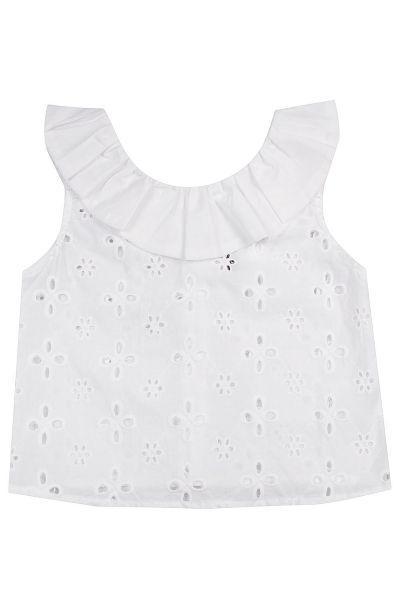 Купить Блуза, Manila Grace, Белый, Хлопок-95%, Эластан-5%, Женский