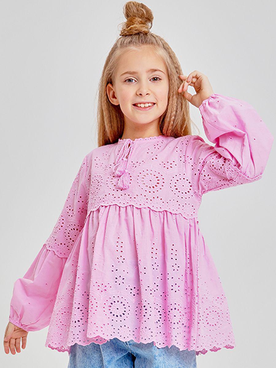 туника to be too для девочки, розовая
