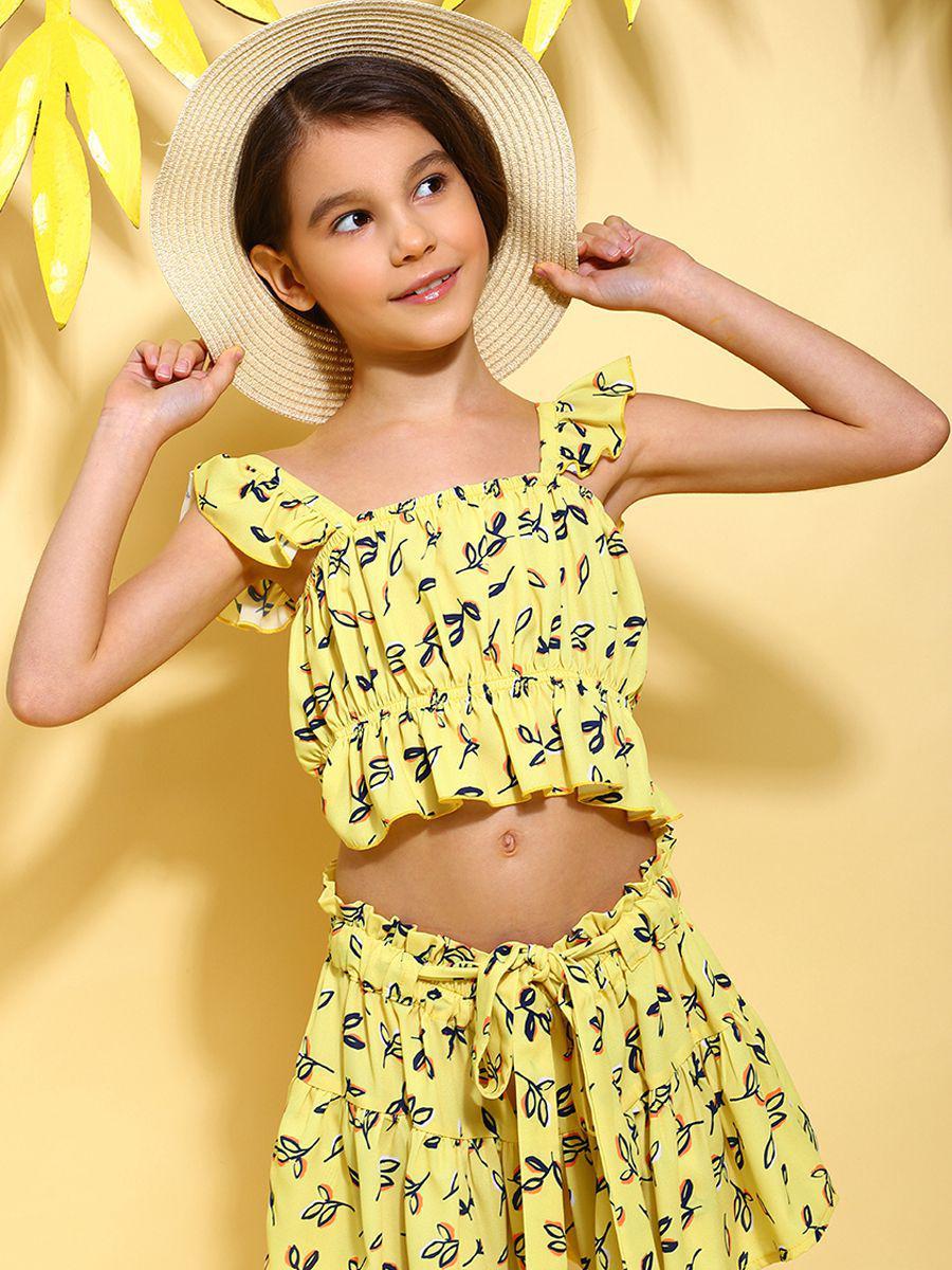 топ y-clu' для девочки, желтый