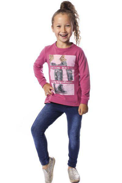 Купить Лонгслив+джинсы, Band, Разноцветный, Хлопок-80%, Полиэстер-15%, Лайкра-5%, Женский
