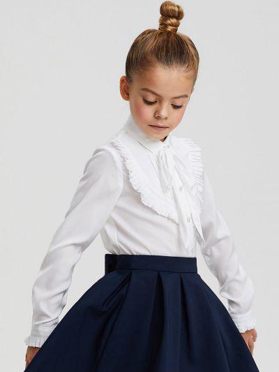 Купить Блуза, Silver Spoon, Белый, Полиэстер-97%, Эластан-3%, Женский