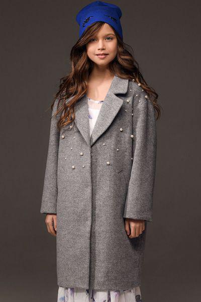 Купить Пальто, Noble People, Серый, Полиэстер-78%, Шерсть-22%, Женский