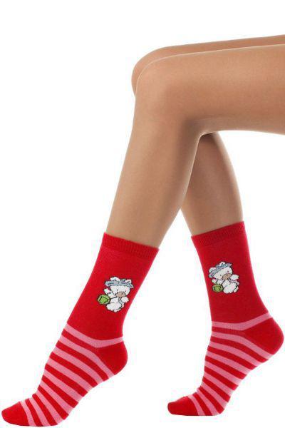 носки charmante для девочки, красные