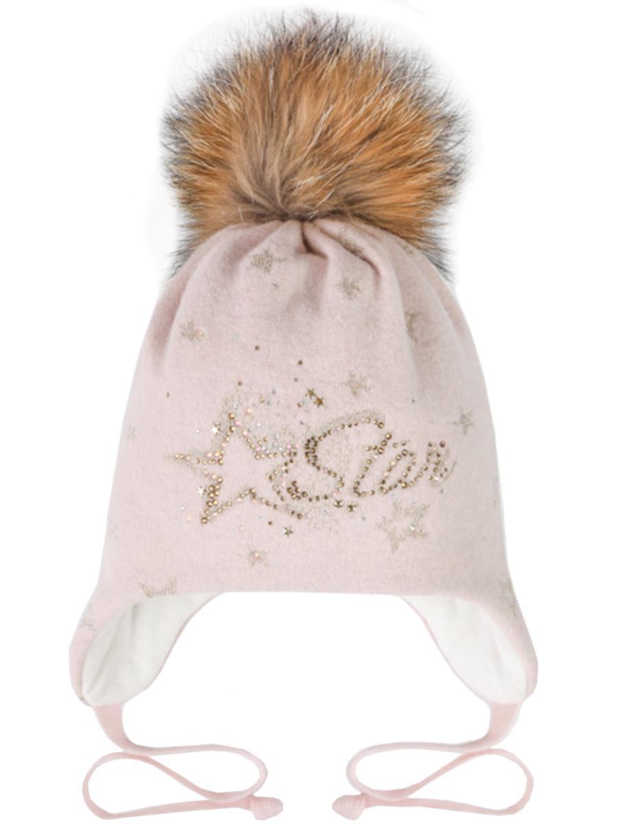 шапка dan&dani для девочки, розовая