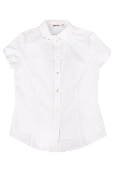 Купить Блуза, Cleverly, Белый, Полиэстер-60%, Хлопок-40%, Женский