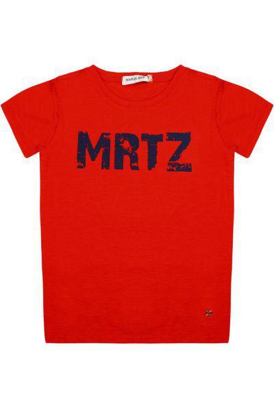 футболка manuel ritz для мальчика, оранжевая